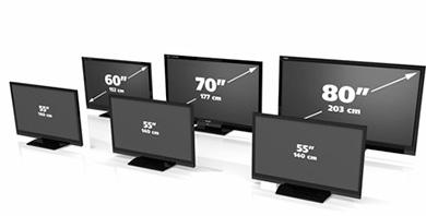 toutes les tailles de tv disponibles pour faire votre choix par diagonale d 39 cran. Black Bedroom Furniture Sets. Home Design Ideas