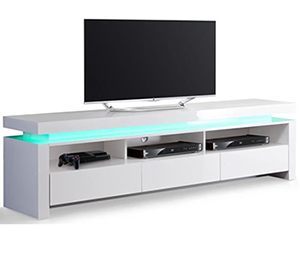 tv sur meuble bas design led